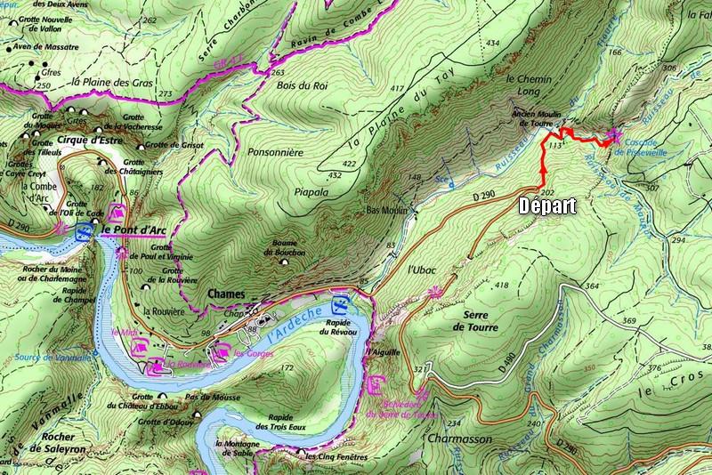 Cascade de Pissevieille en Ardèche