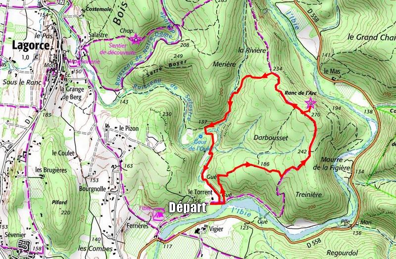 Itinéraire randonnée en Ardèche