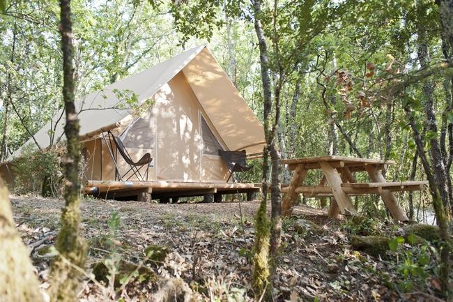 Huttopia Sud Ardèche, hébergements éco-conçus