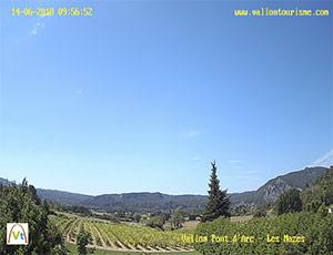 Webcam Vallon Pont d'Arc Ardèche