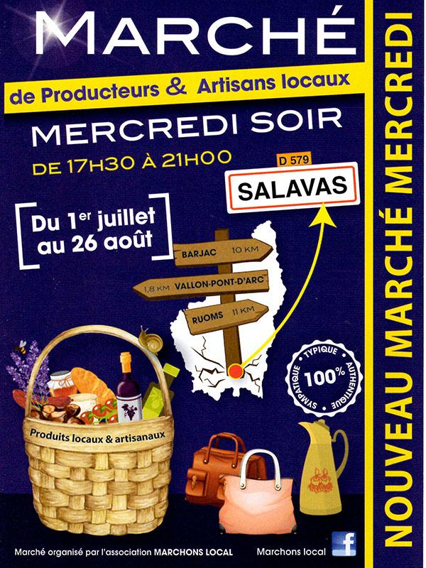 Marché artisans Ardèche